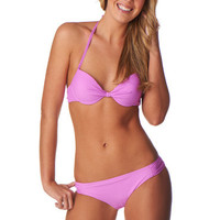 Orchid Gathered Front Push Up Bikini Top