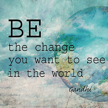 Gandhi Quote Be The Change by art64