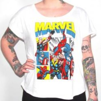 Marvel Girls Fashion Top - Comic Book Pop Out