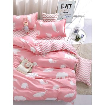 Animal Print Chevron Bedding Set