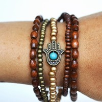 Sil - Love n Lavish - Google+ - Hamsa Hand Stacking Bracelet :…