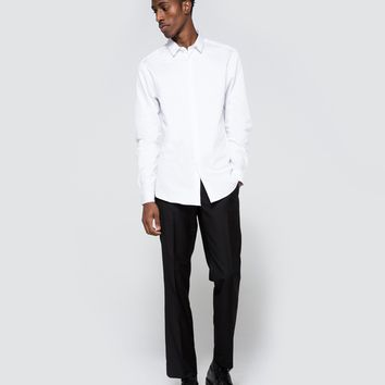 Topman / Premium White LS Egyptian Cotton