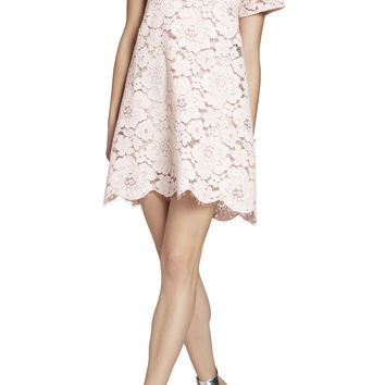 Pink BCBG Diane Oversized Lace Dress