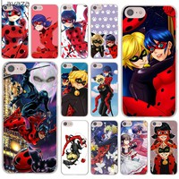 Lavaza Miraculous Ladybug and Chat Noir Hard Cover Case for Apple iPhone 8 7 6 6S Plus 5 5S SE 5C 4 4S X 10 Coque Shell