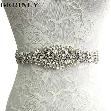 Womens Wedding Sash Elegant Rhinestone Satin Ribbon Bridal Belts Party Bride Bridesmaid Belt Dress Cummerbunds Waistband 9 Color