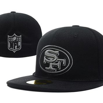 auguau San Francisco 49ers New Era 59FIFTY NFL Football Cap Black