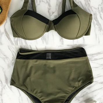 Cupshe Righteous Ardour High-waisted Bikini Set