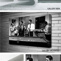 THE RAT PACK PLAYING POOL Canvas
