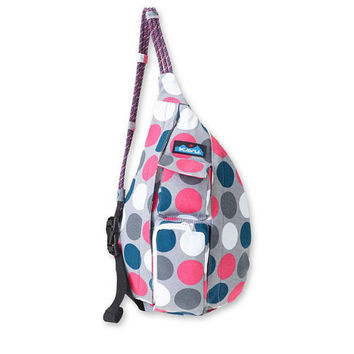 Monogrammed Kavu NEW Mini Rope Bag - Got Dots | Monogram Crossbody Bag | Teens | kids | Outdoors Satchel | Gift for Her | Canvas Sling Bag