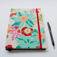Celebration journal, blank pages journal, floral
