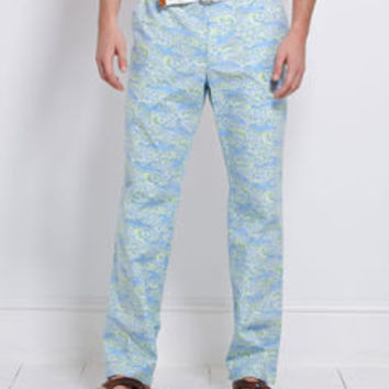 Mens Casual Pants:  Shark Wave Printed Mens Pants - Vineyard Vines