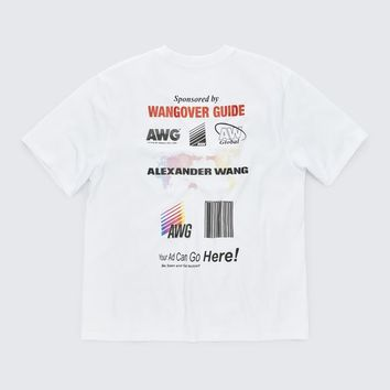 Alexander Wang SPONSORED SHORT SLEEVE TEE TOP | Official Site