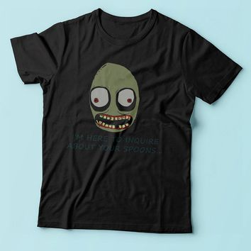 Salad Fingers Spoons I'M Here To Enquire Men'S T Shirt
