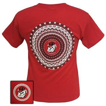 Georgia Bulldogs Preppy Mandala T-Shirt