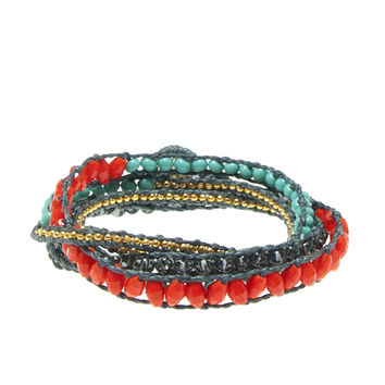 Multi Bead Wrap Bracelet