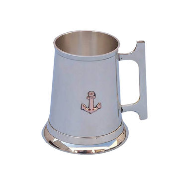 Brass Anchor Mug 5""