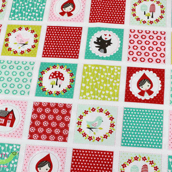 Fitted Crib Sheet, Little Red Riding Hood, Lil' Red Bedding, Baby Girl Crib Bedding