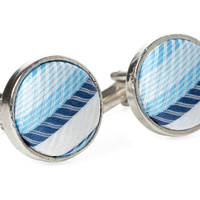 One Kings Lane - The Prepster - Blue Tweed Cufflinks