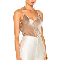 Juan Carlos Obando Velvet High Low Cami in Steel | FWRD
