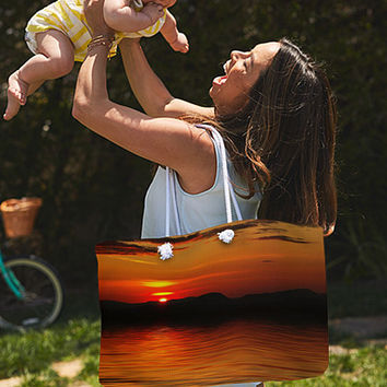 Sunset Reflection On The Lake Weekender Tote Bag