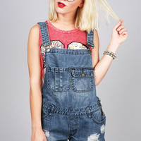 Rad Cutoff Overalls | Denim Overalls at Pink Ice