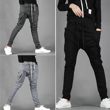 Cool Men Regular Fit Sports Harem Pants Bag Jogging Trousers 16719 [9305644167]