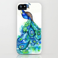 Peacock iPhone Case by Annya Kai | Society6