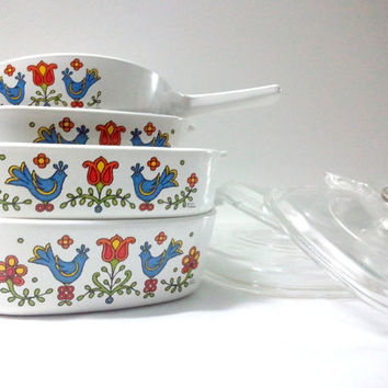 SALE Corning Country Festival Dishes & Saucepans  by ItchforKitsch