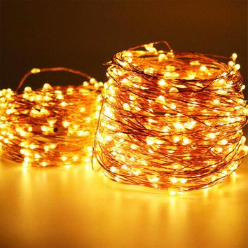 The Longest Copper Wire String Lights 165ft/50M 500 Mini invisible LED Starry Fairy Light for Holiday Wedding Party Garden decor