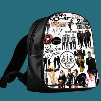 Fall Out Boy My Chemical Romance Panic At the Disco for Backpack / Custom Bag / School Bag / Children Bag / Custom School Bag *