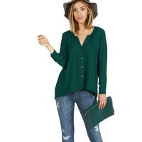 Teal Impulse Blouse