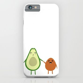 AVOCADO MOMMY AND AVOCADO KID iPhone & iPod Case by deificus Art