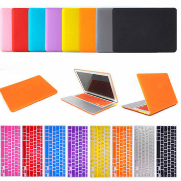 SKULL BRO Laptop Matte Case Cover with Rubber Keyboard Skin For Apple Macbook Air Pro Retina 11/13/15 Laptop Case
