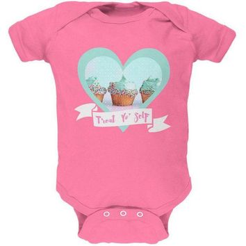PEAPGQ9 Treat Yo Self Cupcakes Soft Baby One Piece