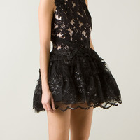 LOYD/FORD BLACK LACE AND MACRAMÉ DRESS