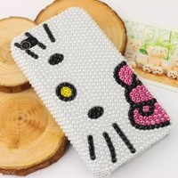 Slim Crystal iPhone Case for AT&T Verizon Apple iPhone 4/4S Pearl Hello Kitty Face
