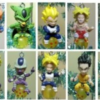 Dragon Ball Z Set of 10 Holiday Christmas Tree Ornaments Featuring Favorite Androids, Cyborgs, and Robot Characters