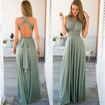 Gradient Elegant Casual Women Maxi Dress Sexy Dress Donne Boho Club Vestito Party Wedding Maternity Dresses designer clothes