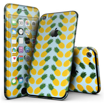Tropical Twist PineApple v1 - 4-Piece Skin Kit for the iPhone 7 or 7 Plus