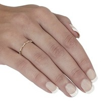 Tressa Collection Sterling Silver and Goldfill Twist Ring - Gold