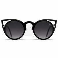Quay Eyeware Invader Sunglasses in Black