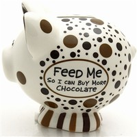 Feed Me Chocolate Piggy Coin Bank