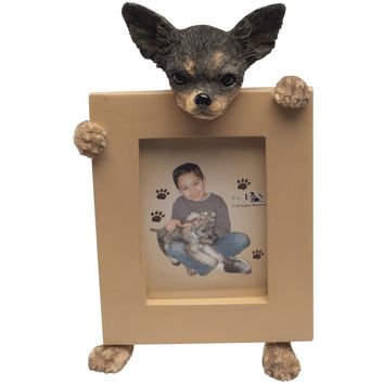 Chihuahua Holding Frame Small Picture Frame