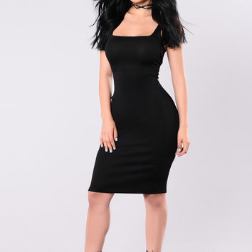 My Type Midi Dress - Black