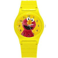 Elmo on Yellow Sparkle Background on Yellow Plastic Watch...New..Great for Kids