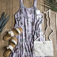 Weatherly Floral Dress, Dusty Purple