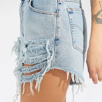 Urban Renewal Recycled Destroyed Denim Levi's Short | Urban Outfitters