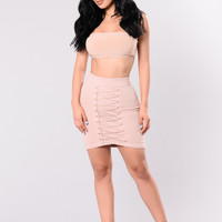Finders Keepers Skirt - Nude