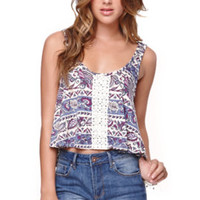 LA Hearts Crochet Front Swing Tank at PacSun.com