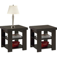 Walmart: Larkin Espresso End Tables - Value Bundle